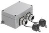 Passive Industrial Ethernet IP65 Junction Boxes / Connectors V1 - Metal Double Junction Box -- IE-OM-V01M-K21-2R -- View Larger Image
