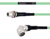 Temperature Conditioned Low Loss N Female Bulkhead to RA N Male Cable LL335i Coax in 72 Inch -- FMHR0251-72 -Image