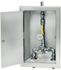 Symmons TempControl® Thermostatic Mixing Valve and Piping Assembly in Cabinet with Cold Water By-pass (Replaces 5-200BW) -- 6-200BW