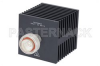 Medium Power 50 Watts RF Load Up To 8 GHz With 7/16 DIN Male Input Square Body Black Anodized Aluminum Heatsink -- PE6217 -Image