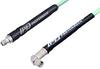 SMA Male Right Angle to SMA Female Low Loss Cable 100 cm Length Using PE-P142LL Coax, RoHS -- PE3C2305-100CM -Image