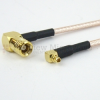 RA MMCX Plug (Male) to RA SMB Plug (Male) Cable RG316 Coax Up To 3 GHz in 120 Inch -- FMC1926315-120 -- View Larger Image