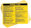 Brady B-928 Black on Yellow Rectangle Vinyl Hazardous Material Label - 4 1/2 in Width - 3 3/4 in Height - Printed Text = DIESEL FUEL - 93522 -- 754476-93522