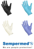 Sempermed Synthetic EVN X-Small PVC Powder Free Disposable Gloves - Medical Grade - Smooth Finish - 119019-07101 -- 119019-07101