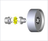 ROTEX® Torsionally Flexible Coupling with Brake Drum -- BTAN