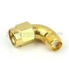 Radius RA SMA Male to SMA Female Adapter MIL-STD-202, Method 106 Gold Plated with Passivated Stainless Steel Body -- SM5292