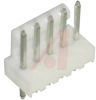 .100 IN STRAIGHT HEADER; 5 CIRCUITS (White) -- 70190811 - Image