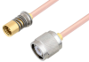 Snap-On BMA Jack to TNC Male Cable 12 Inch Length Using RG405 Coax -- PE3C4892-12 -Image