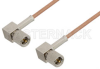 10-32 Male Right Angle to 10-32 Male Right Angle Cable 24 Inch Length Using RG178 Coax, RoHS -- PE36534LF-24 -- View Larger Image