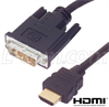 DVI to HDMI Cable Assembly, HDMI-M/DVI-D Single Link-M 1.0M -- HD-DVI-MM-1 - Image