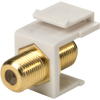 Steren 310-416WH-10 White Single F To F Gold Keystone Insert -- 310-416WH-10