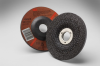 3M Aluminum Oxide Depressed-Center Wheel - 24 Grit Very Coarse Grade - 4 1/2 in Diameter - 7/8 in Center Hole - Thickness 1/4 in - 92312 -- 051135-92312 - Image