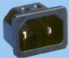 IEC 60320 C18 Snap-in Power Inlet -- 83012330