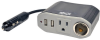 100W PowerVerter Ultra-Compact Car Inverter with Outlet, 12V CLA Receptacle, and 2 USB Charging Ports -- PV100USB -- View Larger Image