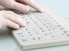 Silicone Keyboard Enclosure without Pointing Device -- TKG-084-IP68-GREY-USB-DE