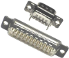 Cable Assemblies and IO cable connectors, IO cable connectors, D-Subminiature, D-Subminiature Cable Signal and Power, Contact type=Signal -- DA15P065TXLF