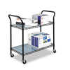 Wire Utility Cart, 2-Shelf, 43-3/4w x 19-1/4d x 40-1/2h, Bla -- 5337BL
