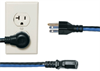 "MIDDLE ATLANTIC IEC POWER CORD, 24"", 20 PC, LEFT HAND PLUG -- IEC-24X20-90L -- View Larger Image"