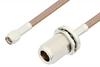 SMA Male to N Female Bulkhead Cable 72 Inch Length Using RG400 Coax -- PE33117-72 -Image