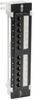 Cat6 Wall-Mount 12-Port Patch Panel - PoE+ Compliant, 110/Krone, 568A/B, RJ45 Ethernet, TAA -- N250-P12