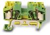 Grounding Terminal Block: 22-8 AWG, green/yellow, 10/pk -- DN-QG8