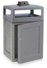 Receptacle,Front Door w/Urn,Gray,48G -- 2KDN6