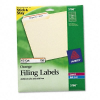 Permanent Adhesive Laser/Inkjet File Folder Labels, Orange B -- 5166