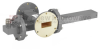 40 dB WR-137 Waveguide Crossguide Coupler with UG-344/U Round Cover Flange and N Female Coupled Port from 5.85 GHz to 8.2 GHz in Bronze -- FMWCT1110 -Image