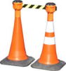 Cone Mounted Rectracta-Belt & Euro Cones: Euro Traffic Cones -- CONEWT7