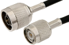N Male to TNC Male Cable 60 Inch Length Using RG223 Coax -- PE3665-60 -Image