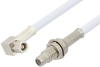 SMC Plug Right Angle to SMC Jack Bulkhead Cable 72 Inch Length Using RG188-DS Coax, RoHS -- PE34484LF-72 -- View Larger Image