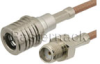 SMA Female to QMA Male Cable 72 Inch Length Using RG316 Coax -- PE38276-72 -Image
