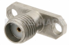 SMA Female Field Replaceable Connector With EMI Gasket 2 Hole Flange Mount .015 inch Pin -- PE44024 -Image