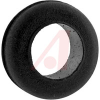 Grommet, Round; 3/8 in.; Black Buna-S Synthetic Rubber/Black Polyvinyl Chloride -- 70211204