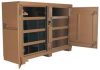 Jobsite Bin Cabinet,2-Door,72x24x51,Tan -- 13R514