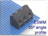 Power I/O Fixed Terminal Block -- ESMM 35° Angle Profile Series -- View Larger Image