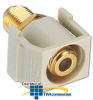 Hubbell Snap Fit Connector, F-Type Recessed Coupler Gold.. -- SFRGFAL