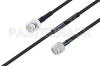 MIL-DTL-17 BNC Male to TNC Male Cable 24 Inch Length Using M17/28-RG58 Coax -- PE3M0118-24 -Image