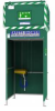 Gravity Fed Tank Showers -- GFTS15  - 1500 Liter Tank-Fed Safety Shower - Image