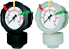 GDS Series Double Sided All Thermoplastic Liquid Filled Pressure Gauge & Isolator