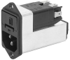 IEC Appliance Inlet C14 with Filter, Fuseholder 1- or 2-pole (5x20 mm or 6.3x32 mm), optional Voltage Selector (step switch) -- KFC - Image