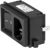 IEC Appliance Inlet C14 with Line Switch 1- or 2-pole -- KP (Switch) -Image