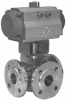 Three-way Ball Valve, Horizontal Version -- Pfeiffer Type BR 26l - Image