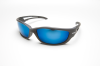 Edge Kazbek Black Aqua Precision Blue Polarized Xtra Large TSKAP-XL218 Safety Glasses -- TSKAP-XL218