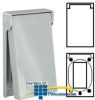 Leviton Single Gang Flush Cover Wallplate, Die-Cast Zinc -- 6196-VFS