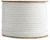 3 Strand White Polypropylene Rope -- TWPW200600