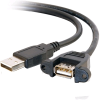Cables To Go 28062 1.5ft USB 2.0 A Male to A Female Panel Mo -- 28062