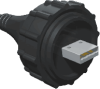 USB Sealed Circular Cable Plug Assembly -- SCPU - Image