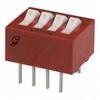 Switch, DIP; 0.480 in. L x 0.380 in. W;4; SPST; Thru-Hole; 0.1 in.; 0.02 in. -- 70216657 - Image