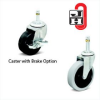 GENERAL DUTY STEM CASTERS -- H2HR-3-ZN-TPR